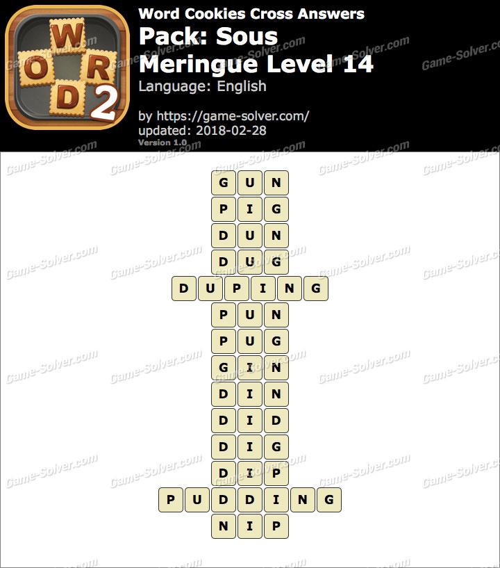 Word Cookies Cross Sous-Meringue Level 14 Answers