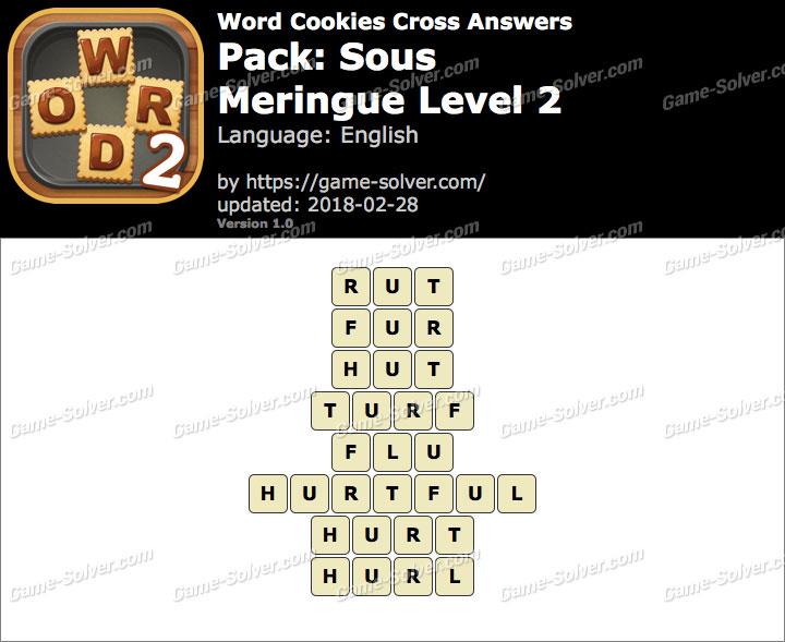 Word Cookies Cross Sous-Meringue Level 2 Answers
