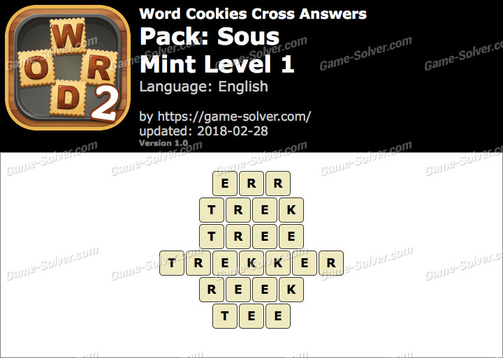Word Cookies Cross Sous-Mint Level 1 Answers
