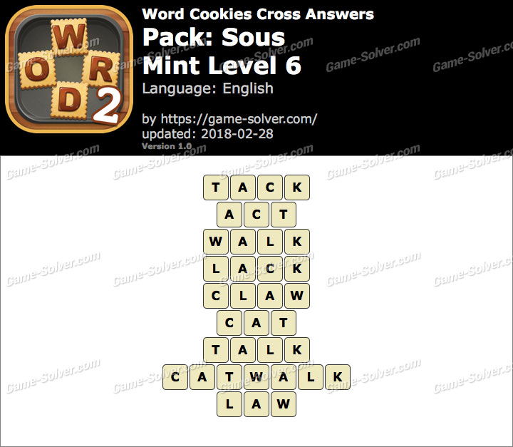 Word Cookies Cross Sous-Mint Level 6 Answers