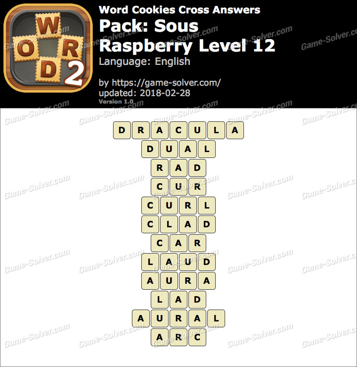 Word Cookies Cross Sous-Raspberry Level 12 Answers