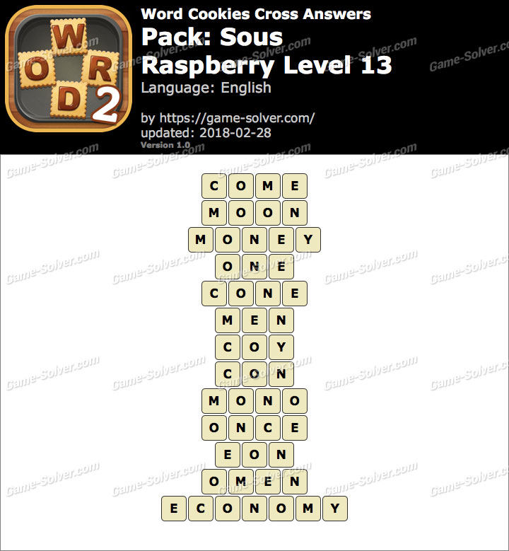 Word Cookies Cross Sous-Raspberry Level 13 Answers