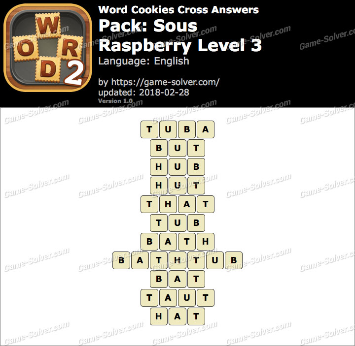 Word Cookies Cross Sous-Raspberry Level 3 Answers