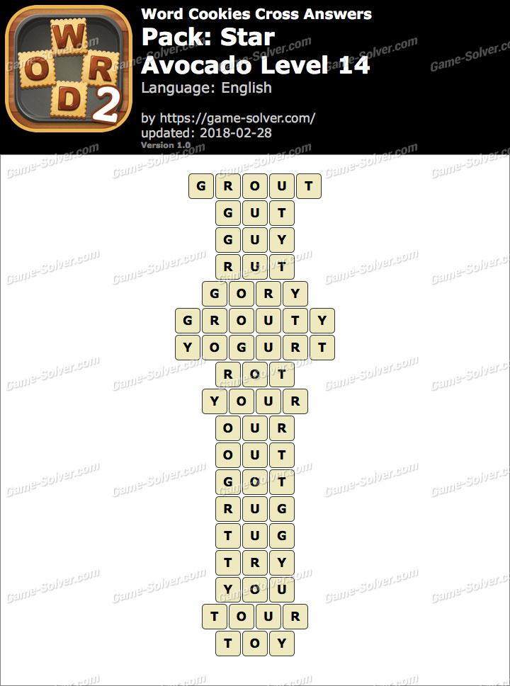 Word Cookies Cross Star-Avocado Level 14 Answers