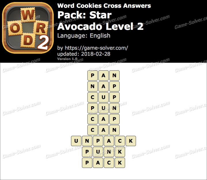 Word Cookies Cross Star-Avocado Level 2 Answers