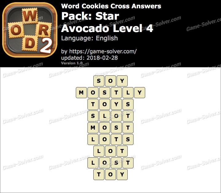 Word Cookies Cross Star-Avocado Level 4 Answers