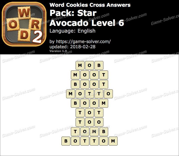 Word Cookies Cross Star-Avocado Level 6 Answers