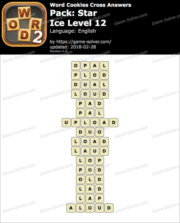 Word Cookies Cross Star-Ice Level 12 Answers