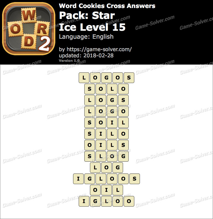 Word Cookies Cross Star-Ice Level 15 Answers