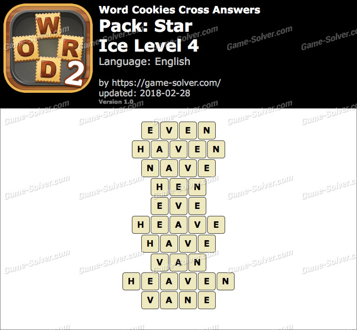 Word Cookies Cross Star-Ice Level 4 Answers