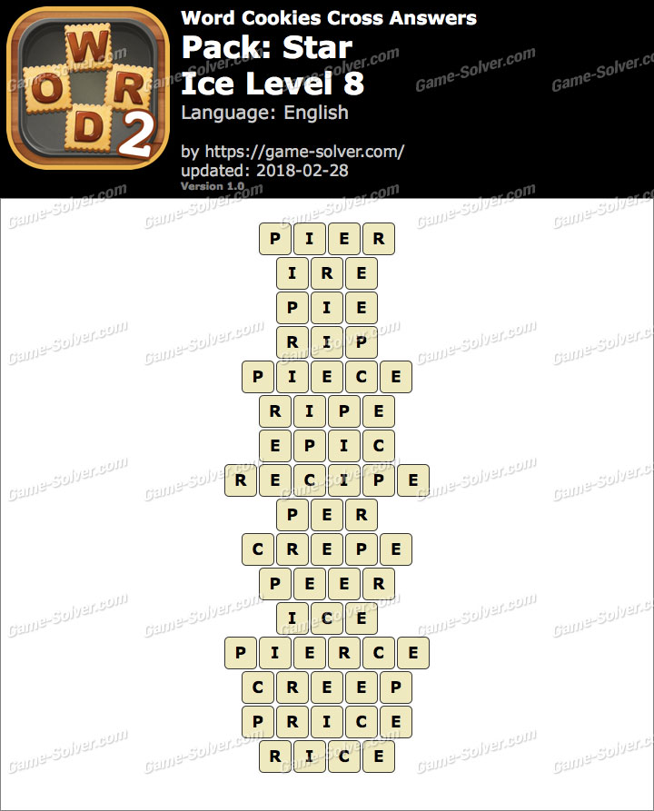 Word Cookies Cross Star-Ice Level 8 Answers