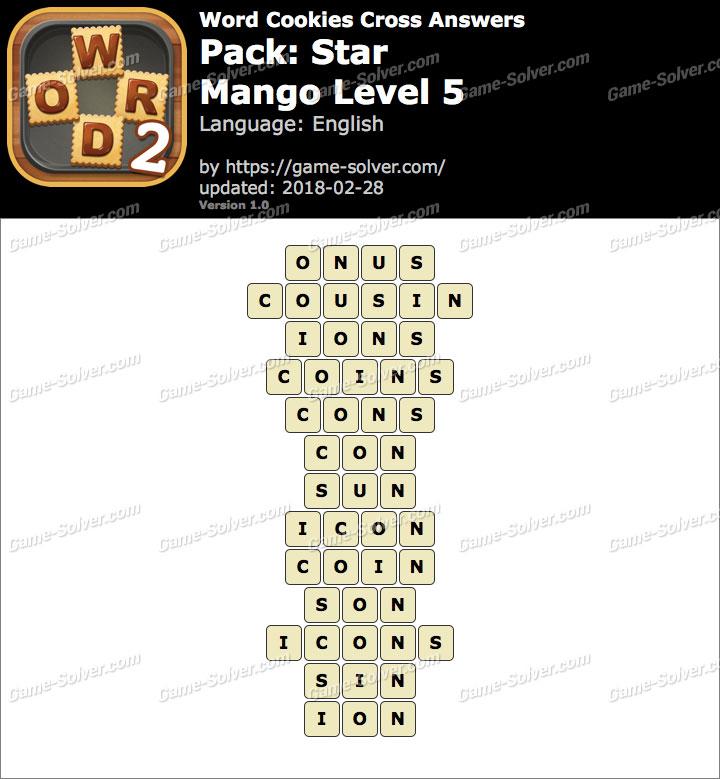 Word Cookies Cross Star-Mango Level 5 Answers