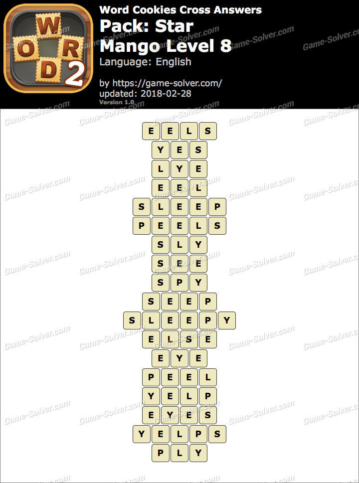 Word Cookies Cross Star-Mango Level 8 Answers