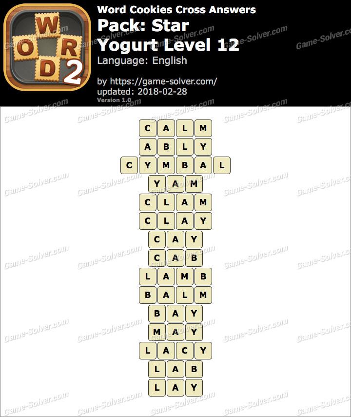 Word Cookies Cross Star-Yogurt Level 12 Answers