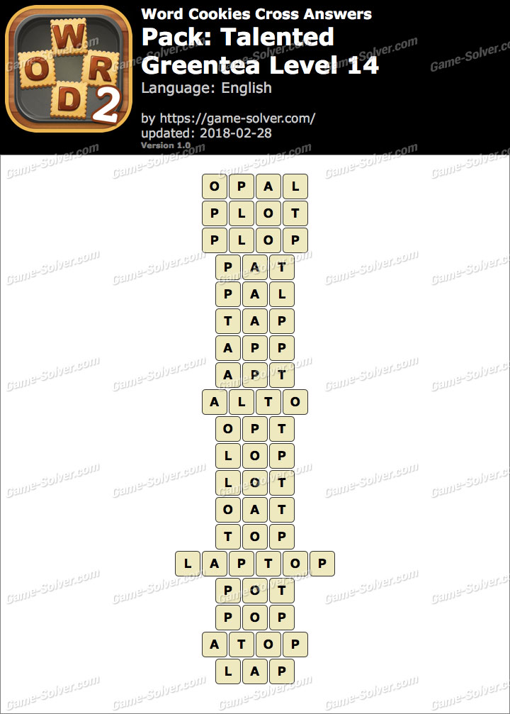 Word Cookies Cross Talented-Greentea Level 14 Answers