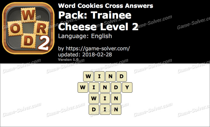 Word Cookies Cross Trainee-Cheese Level 2 Answers