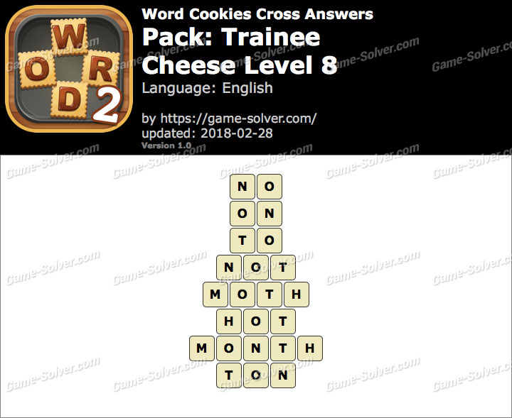 Word Cookies Cross Trainee-Cheese Level 8 Answers
