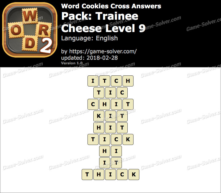 Word Cookies Cross Trainee-Cheese Level 9 Answers