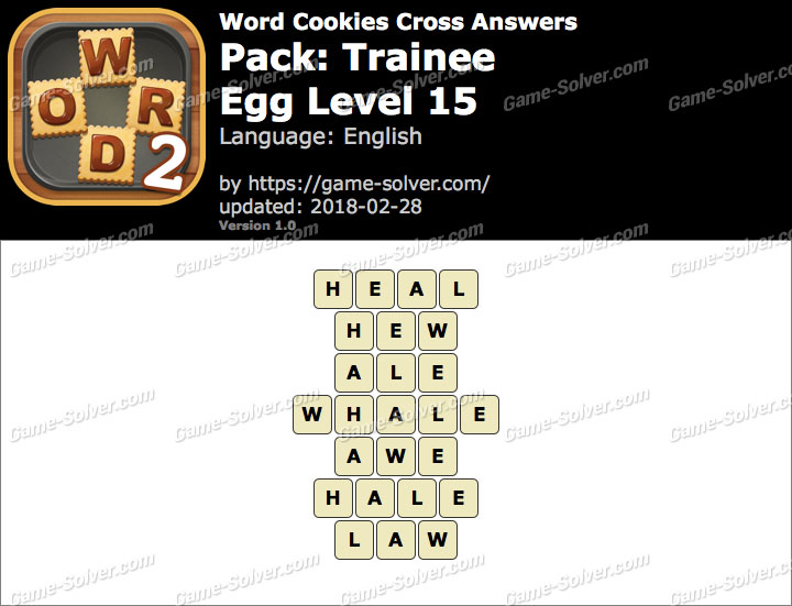 Word Cookies Cross Trainee-Egg Level 15 Answers