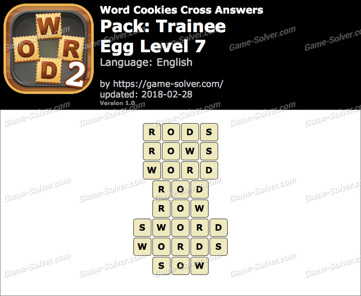 Word Cookies Cross Trainee-Egg Level 7 Answers