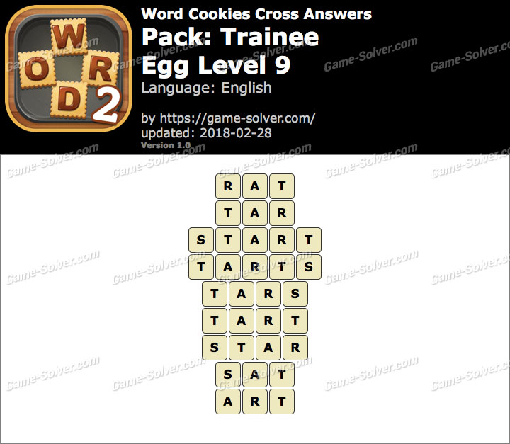 Word Cookies Cross Trainee-Egg Level 9 Answers