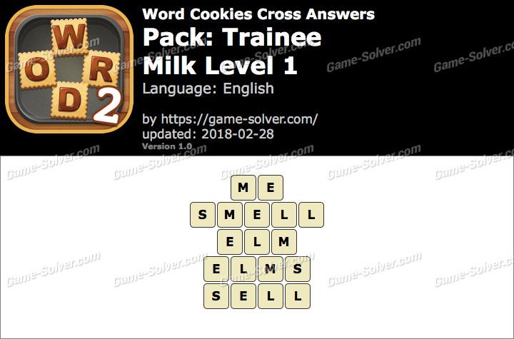 Word Cookies Cross Trainee-Milk Level 1 Answers
