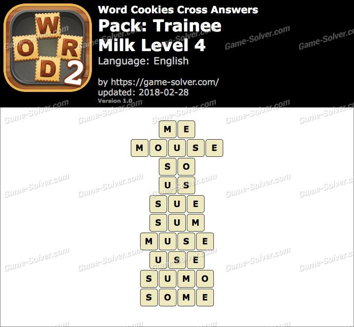 Word Cookies Cross Trainee-Milk Level 4 Answers