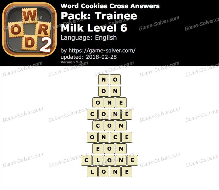 Word Cookies Cross Trainee-Milk Level 6 Answers