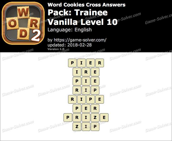 Word Cookies Cross Trainee-Vanilla Level 10 Answers