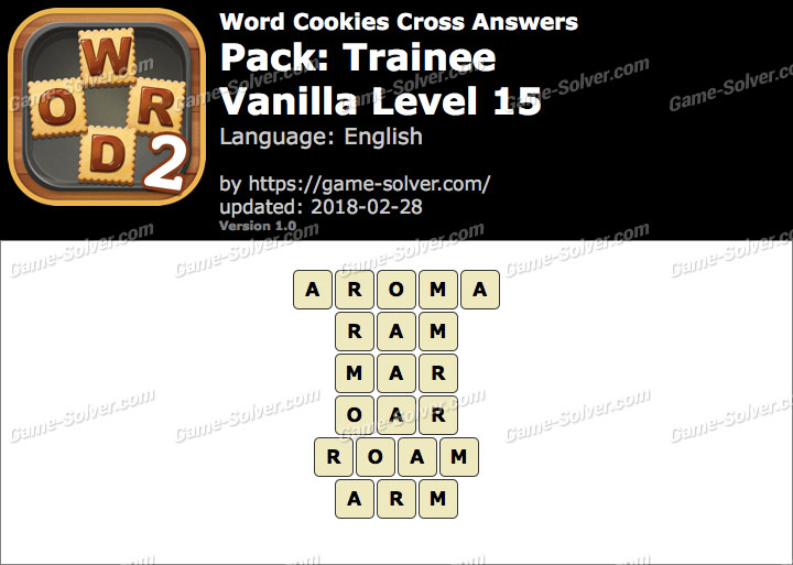 Word Cookies Cross Trainee-Vanilla Level 15 Answers
