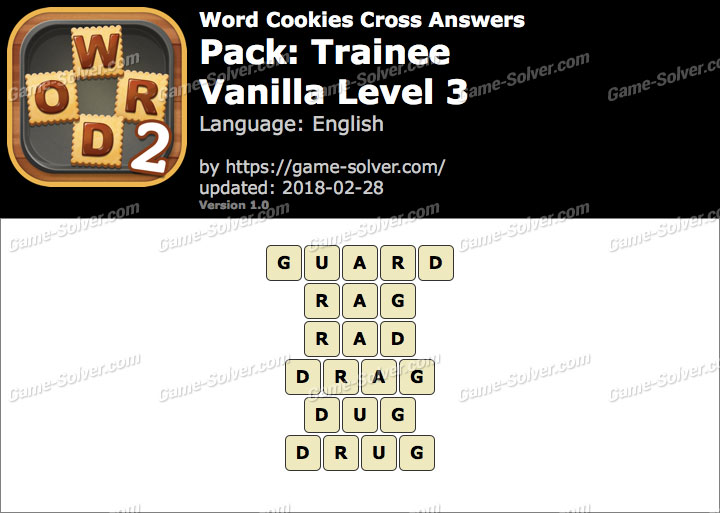 Word Cookies Cross Trainee-Vanilla Level 3 Answers