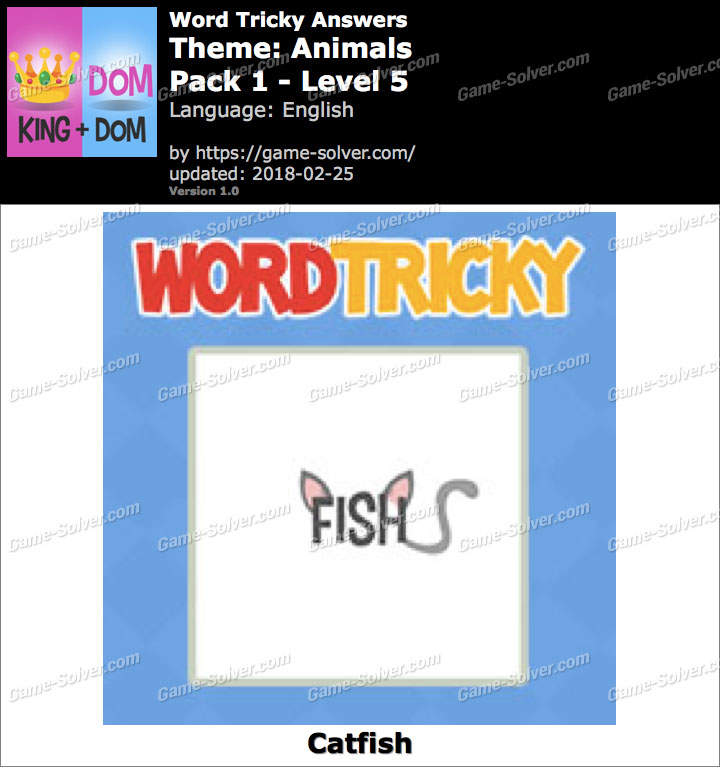 Word Tricky Animals Pack 1-Level 5 Answers
