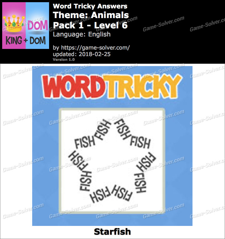 Word Tricky Animals Pack 1-Level 6 Answers
