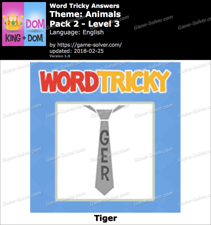 Word Tricky Animals Pack 2-Level 3 Answers