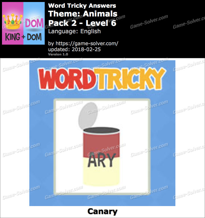 Word Tricky Animals Pack 2-Level 6 Answers