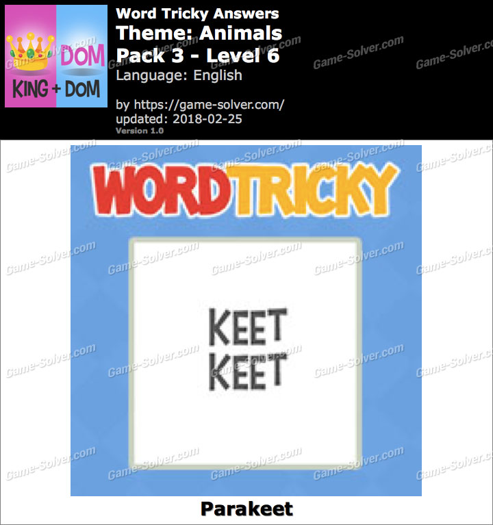 Word Tricky Animals Pack 3-Level 6 Answers