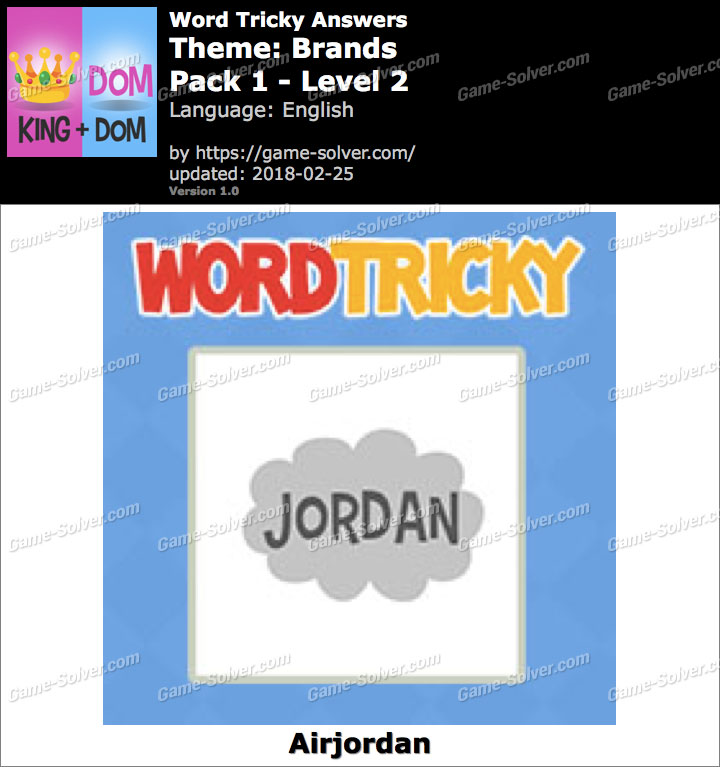 Word Tricky Brands Pack 1-Level 2 Answers