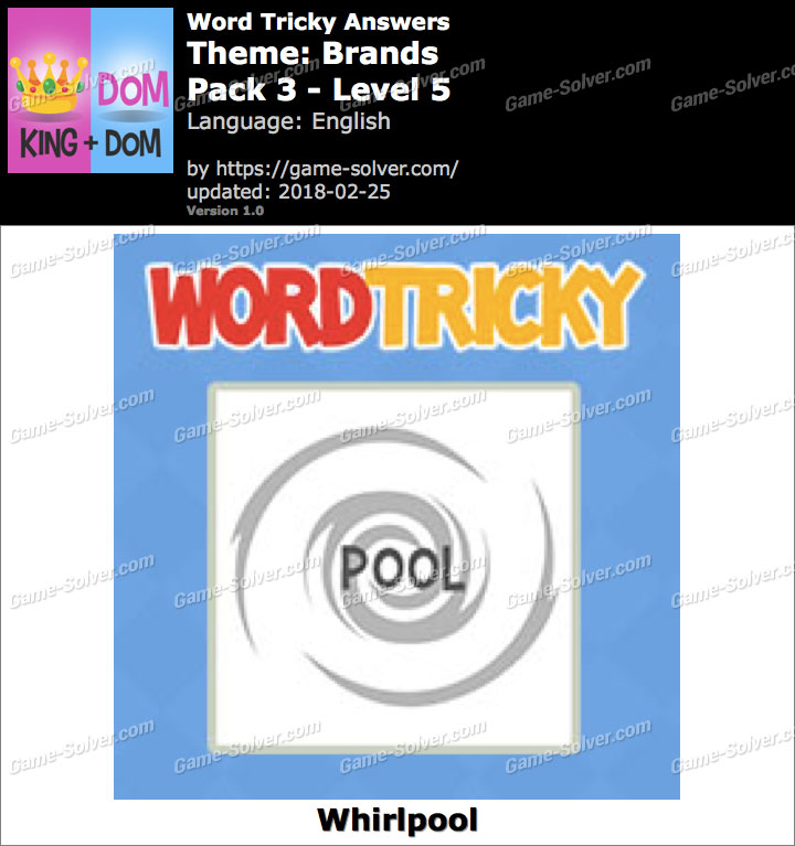 Word Tricky Brands Pack 3-Level 5 Answers