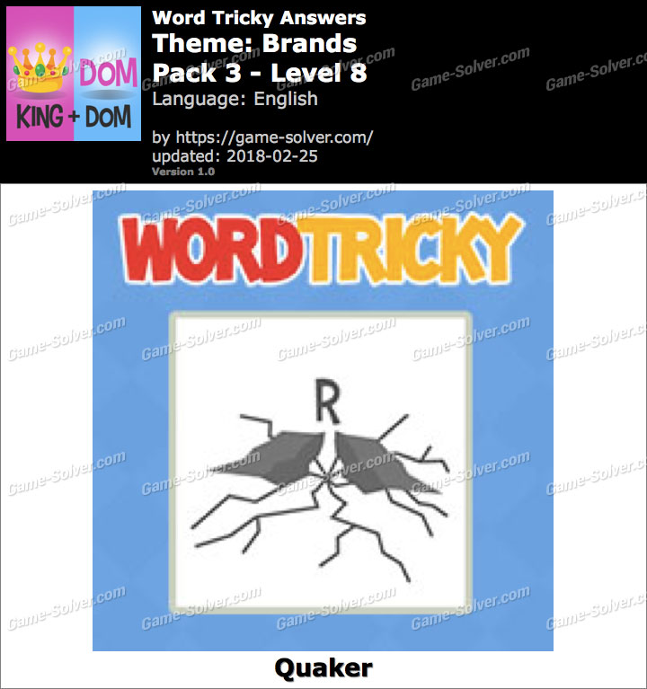 Word Tricky Brands Pack 3-Level 8 Answers
