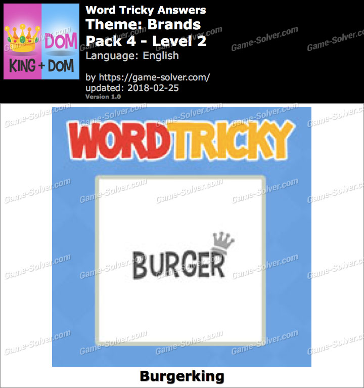 Word Tricky Brands Pack 4-Level 2 Answers