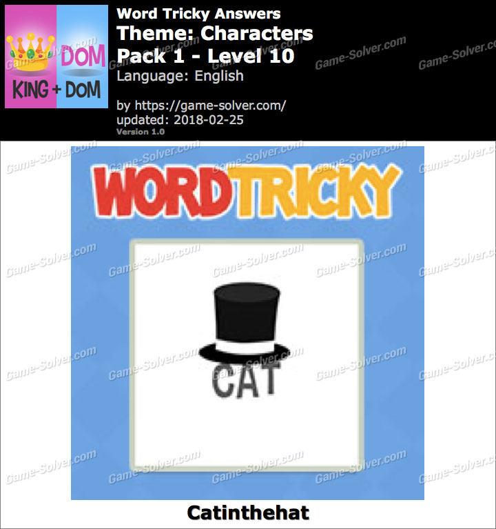 Word Tricky Characters Pack 1-Level 10 Answers