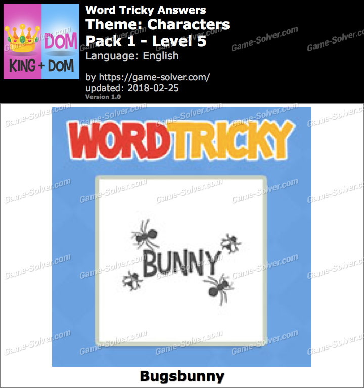 Word Tricky Characters Pack 1-Level 5 Answers