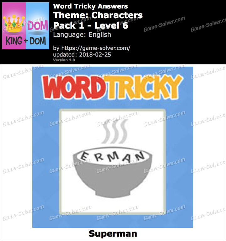 Word Tricky Characters Pack 1-Level 6 Answers