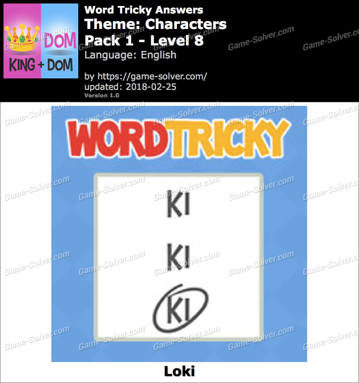 Word Tricky Characters Pack 1-Level 8 Answers