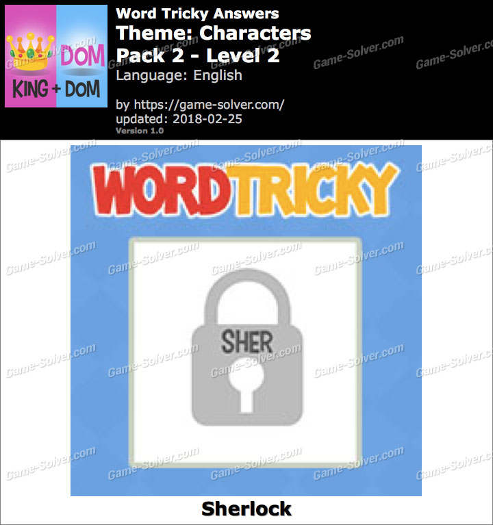 Word Tricky Characters Pack 2-Level 2 Answers