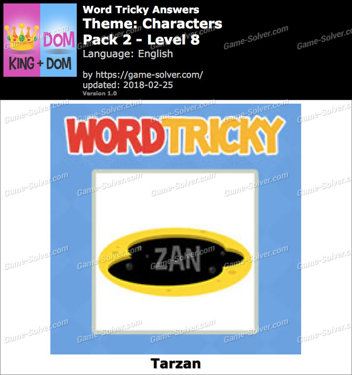 Word Tricky Characters Pack 2-Level 8 Answers