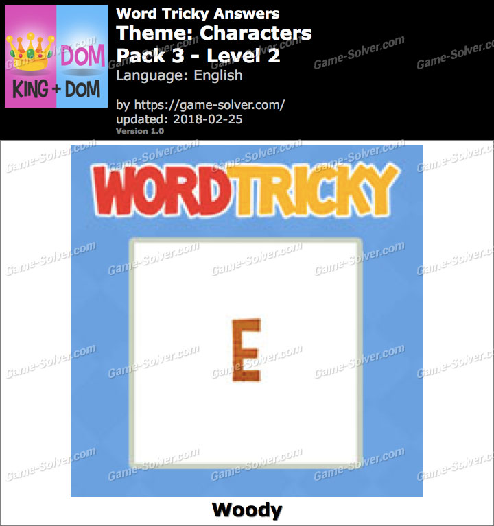 Word Tricky Characters Pack 3-Level 2 Answers