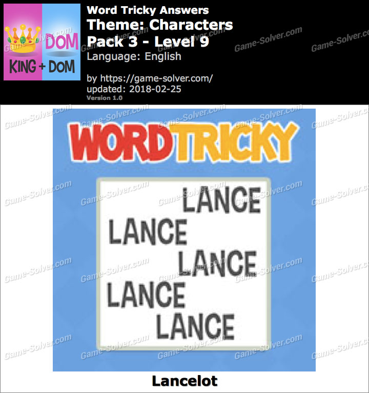 Word Tricky Characters Pack 3-Level 9 Answers