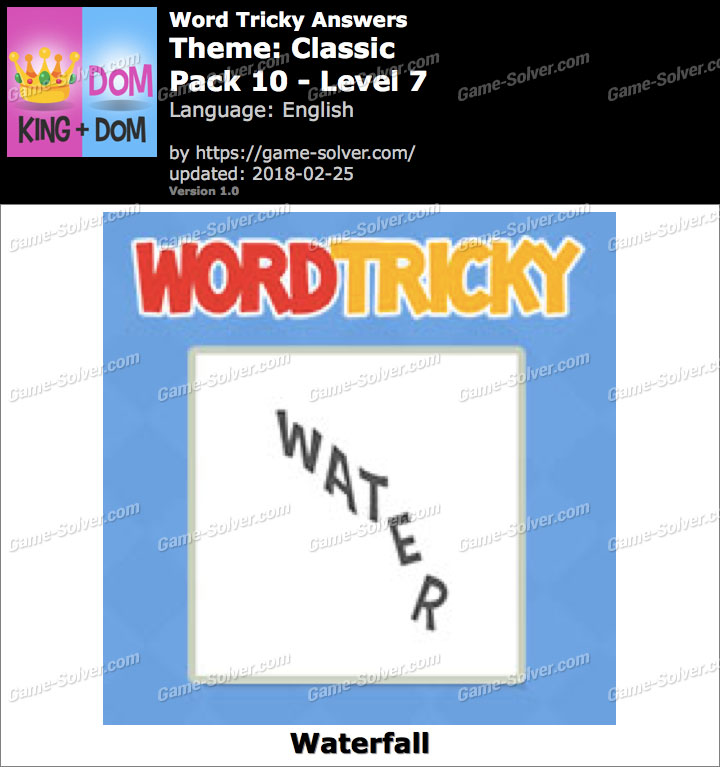 Word Tricky Classic Pack 10-Level 7 Answers