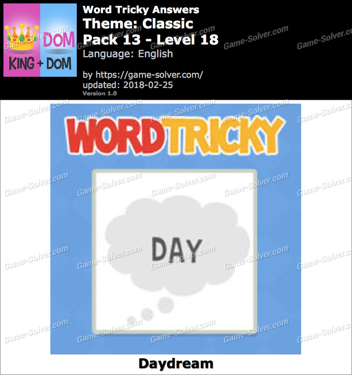 Word Tricky Classic Pack 13-Level 18 Answers